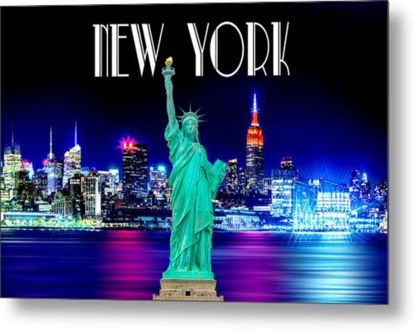 New York Shines Metal Print