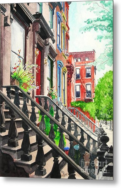 New York Steps Metal Print