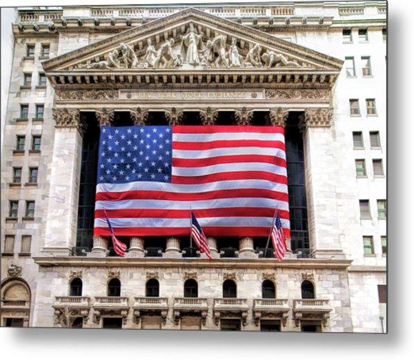 New York Stock Exchange Flag Metal Print
