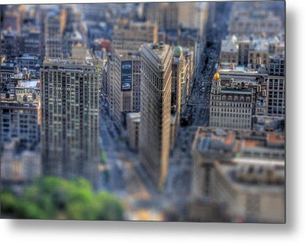 New York Toy Story - Flatiron Building Metal Print