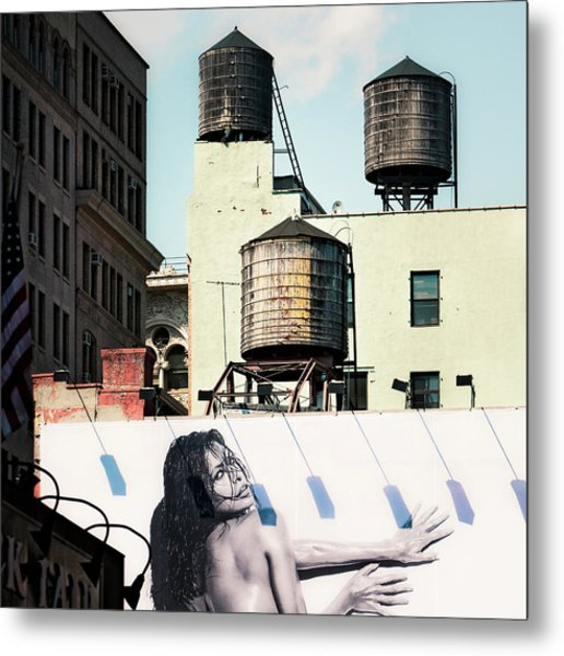 Metal Print featuring the photograph New York Water Towers 15 by Gary Heller