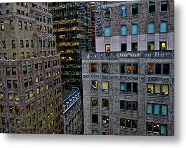 New York Windows Metal Print