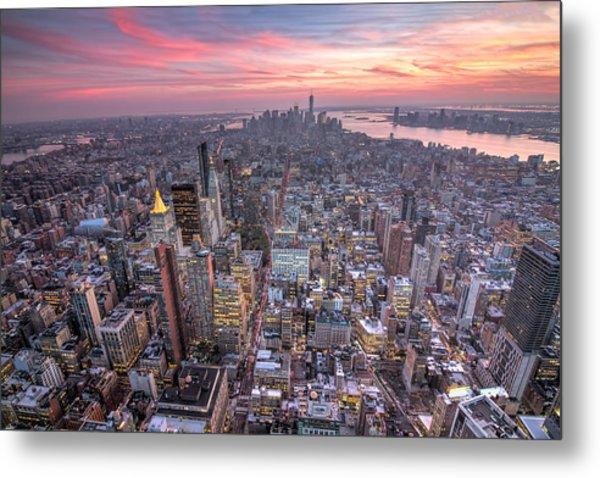 New York Metal Print by Zev Steinhardt