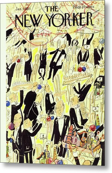 New Yorker January 03 1953 Metal Print by Ludwig Bemelmans