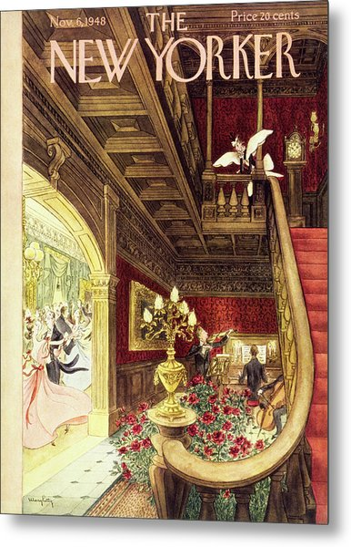 New Yorker Magazine Cover Of A Maid Metal Print