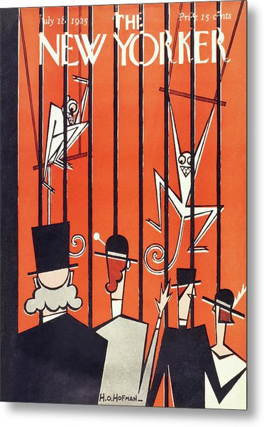 New Yorker Magazine Cover Of People Looking Metal Print by H O Hofman