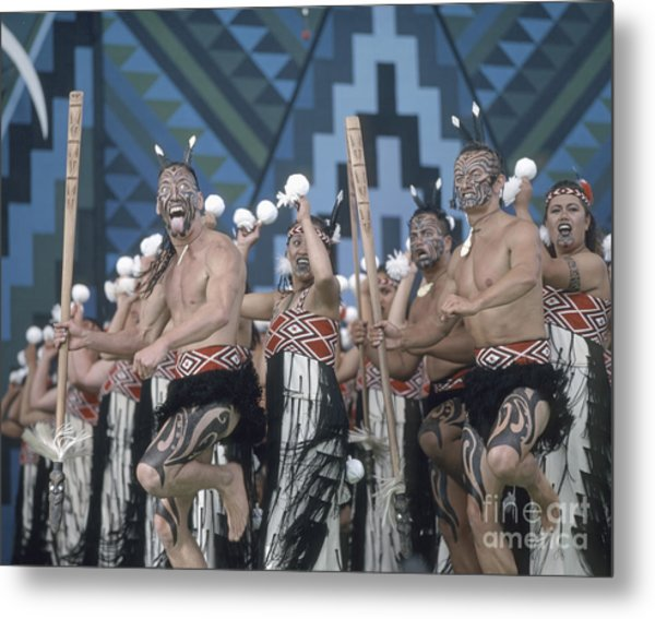 Metal Print featuring the photograph New Zealand,north Island,  Rotorua Arts Festival,dance And Singi by Juergen Held