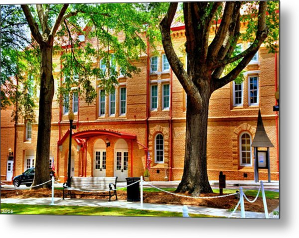 Metal Print featuring the photograph Newberry Opera House Newberry Sc by Lisa Wooten