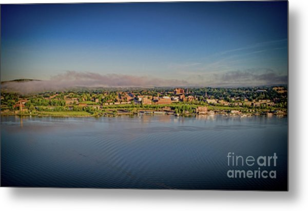 Newburgh, Ny From The Hudson River Metal Print