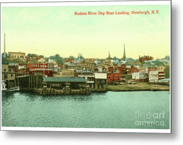 Newburgh Steamers Ferrys And River - 15 Metal Print
