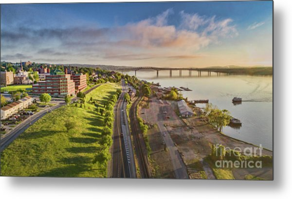 Newburgh Waterfront Looking North Metal Print