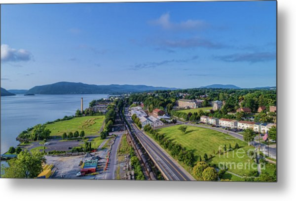 Newburgh Waterfront Looking South 4 Metal Print