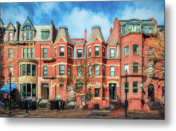 Newbury Street In Boston Metal Print