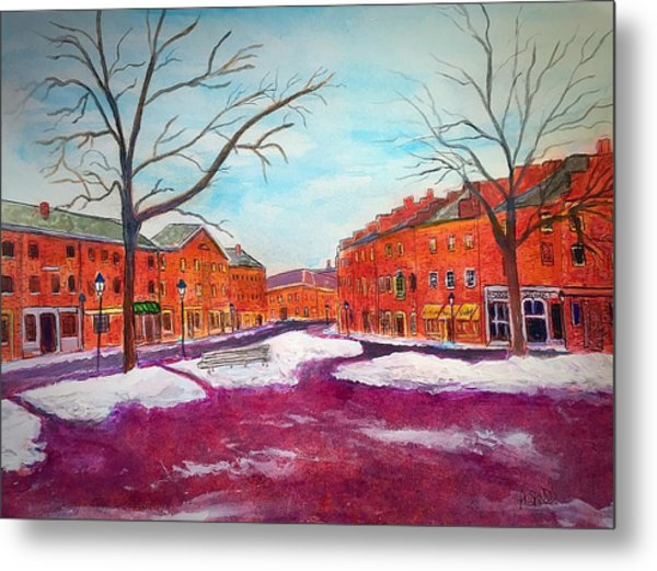 Newburyport Ma In Winter Metal Print