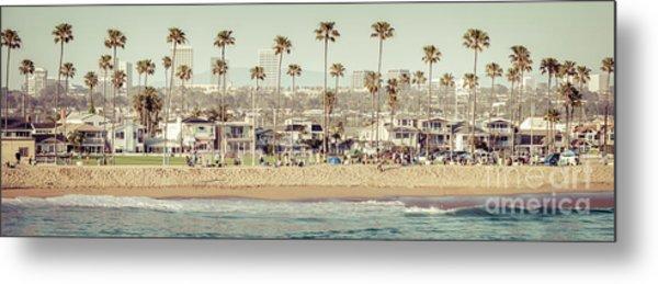 Newport Beach Skyline Vintage High Resolution Panorama Photo Metal Print by Paul Velgos
