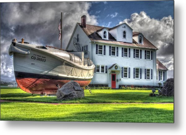 Newport Coast Guard Station Metal Print