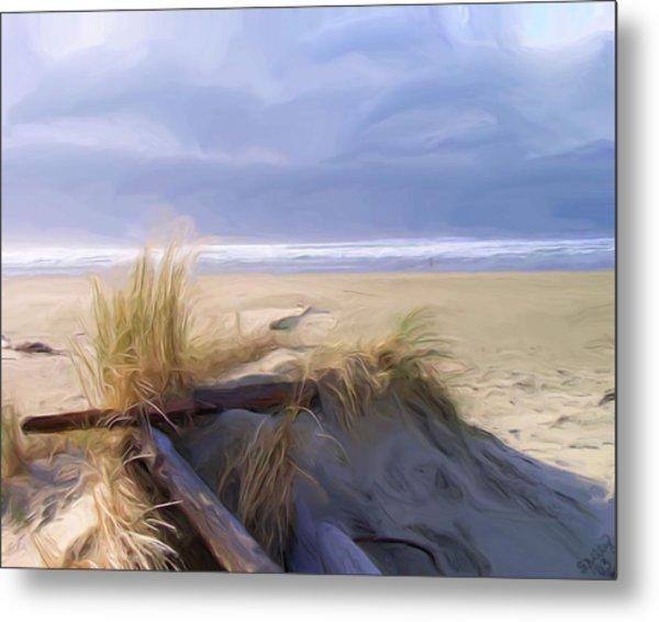 Newport Oregon Summer Beach Metal Print by Shelley Bain
