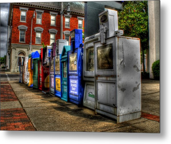 News Stands Metal Print by Christopher Lugenbeal