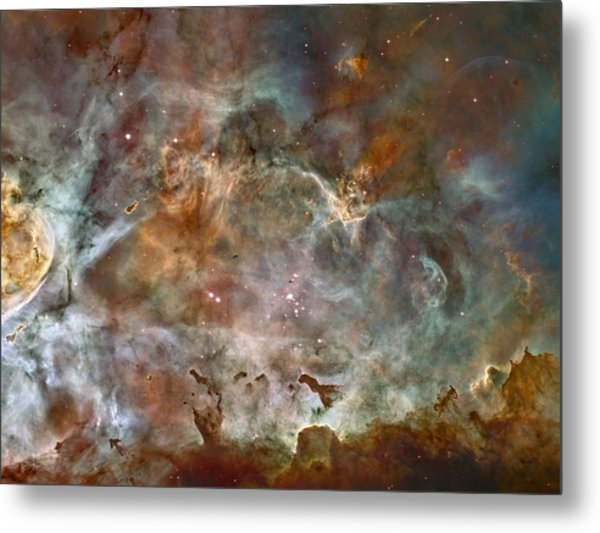 Ngc 3372 Taken By Hubble Space Telescope Metal Print