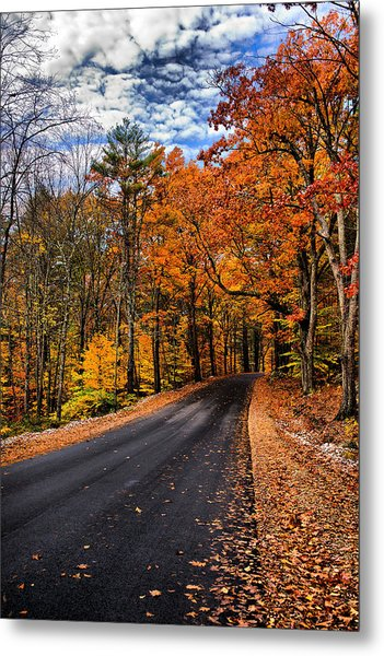 Nh Autumn Road 3 Metal Print