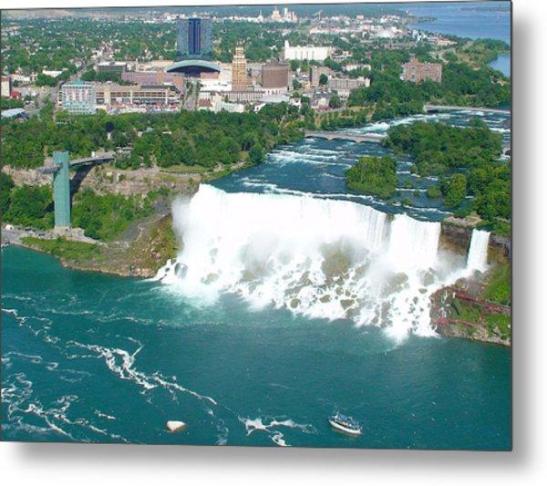 Niagara American And Bridal Veil Falls  Metal Print