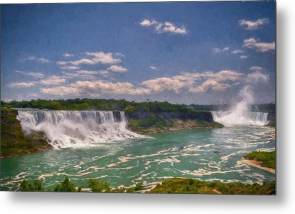 Fall In Niagara Falls Metal Print