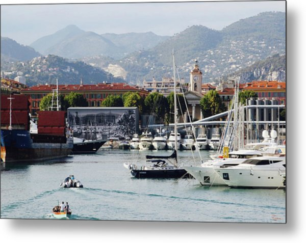 Metal Print featuring the photograph Nice Harbour Life by Rasma Bertz
