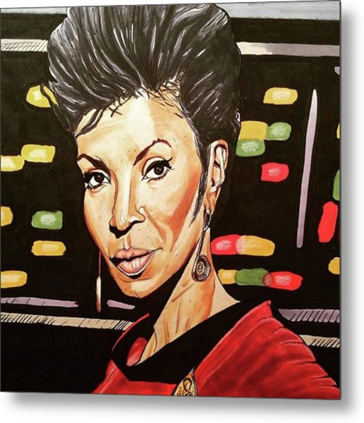 Uhura  Metal Print by Russell Boyle