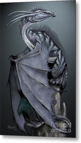 Nickel Dragon Metal Print
