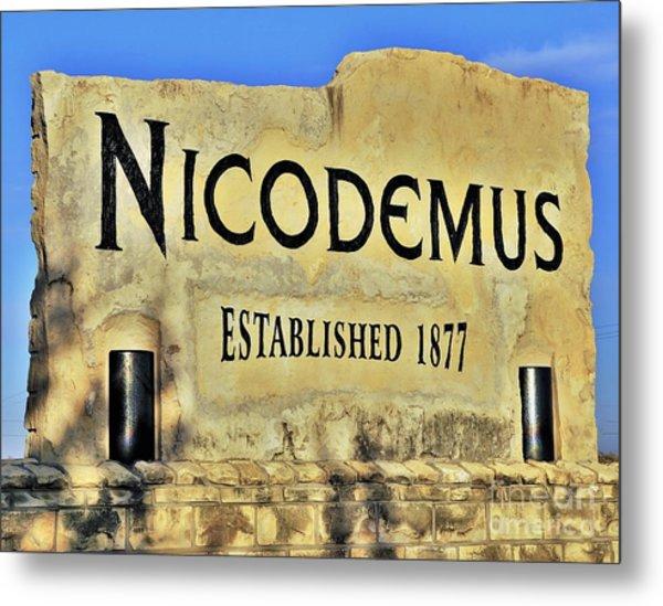 Nicodemus, 1877 Metal Print