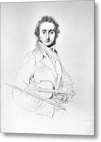 Nicolo Paganini (1782-1840) Metal Print