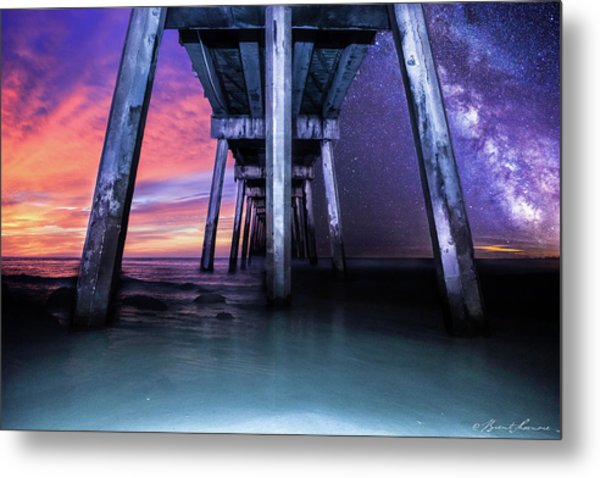 Night And Day Difference- Pensacola Beach Metal Print by Brent Shavnore