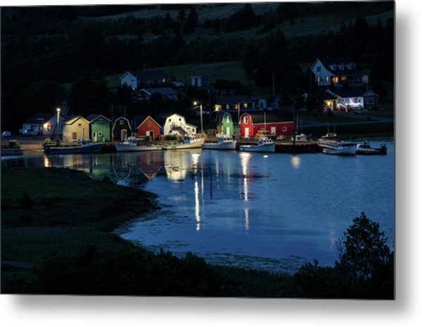Metal Print featuring the photograph Night At French River Harbour, Pei by Rob Huntley