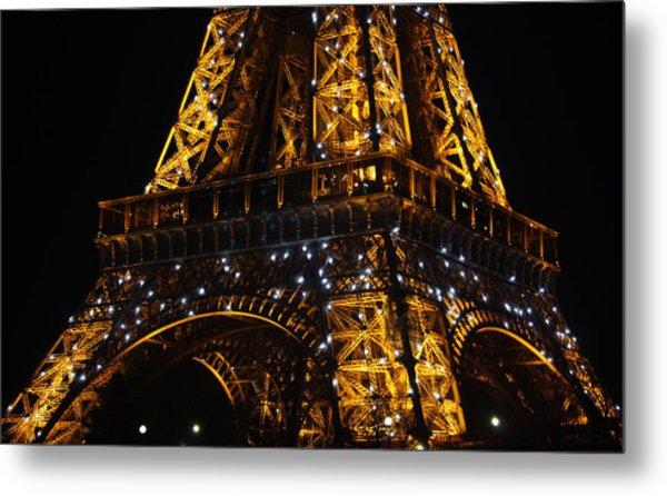 Night At The Eiffel Metal Print