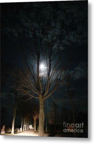 Night At The Graveyard Metal Print