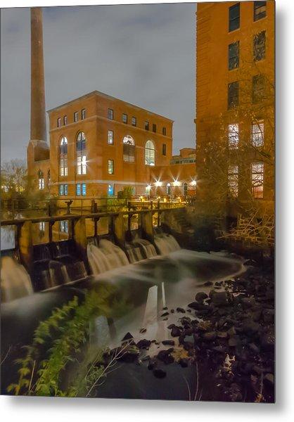 Night At The River Vertical Metal Print