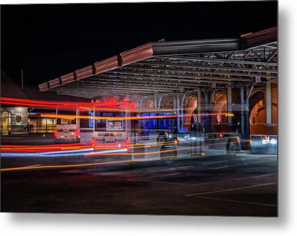 Night Bus Metal Print