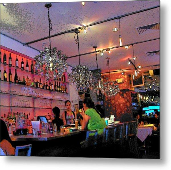 Night Cafe New York Metal Print by Vijay Sharon Govender
