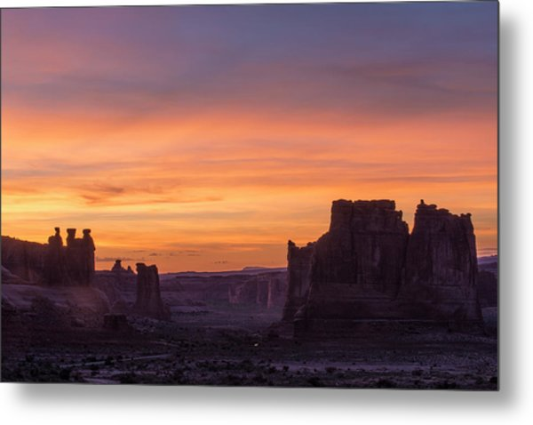 Night Falls Gently Metal Print