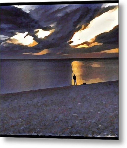 Night Fisher Metal Print