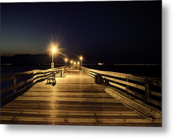 Night Fishin' Metal Print