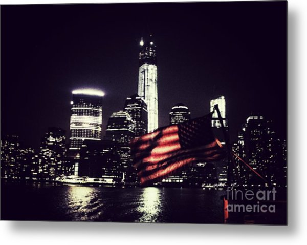 Night Flag Metal Print