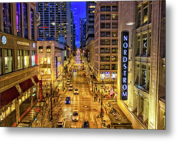 Night In Seattle Metal Print