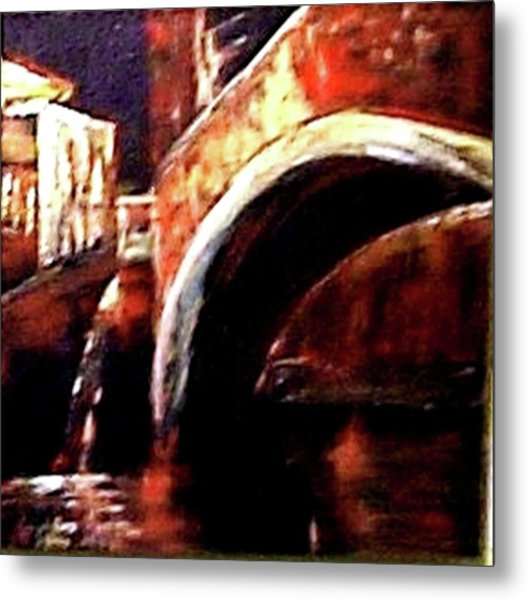 Night In Venice Metal Print