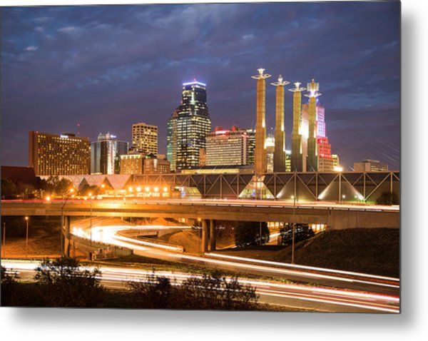 Night Kc Metal Print