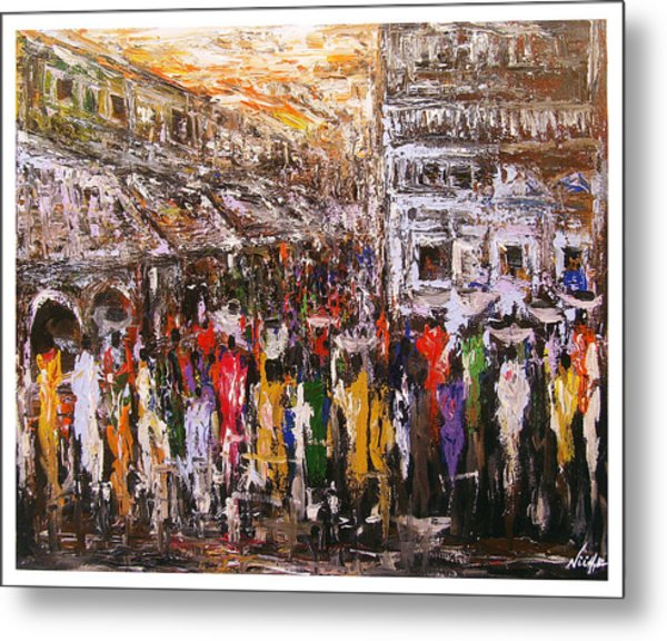 Night Market Metal Print