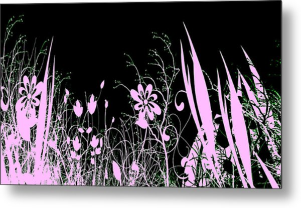 Night Of The Flowers Metal Print by Evelyn Patrick
