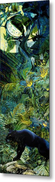 Night Of The Panther Metal Print by Anne Weirich