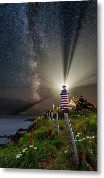 Night Over West Quoddy Metal Print