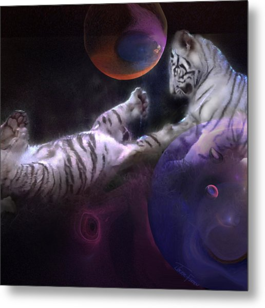 Night Play Metal Print